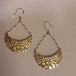 Sterling Silver & Gold Tribal Earings